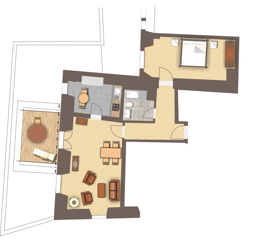 Grundriss Wohnung 111