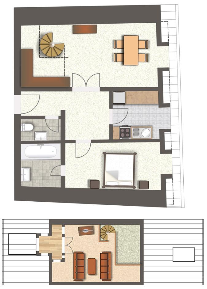 Grundriss Wohnung 1111