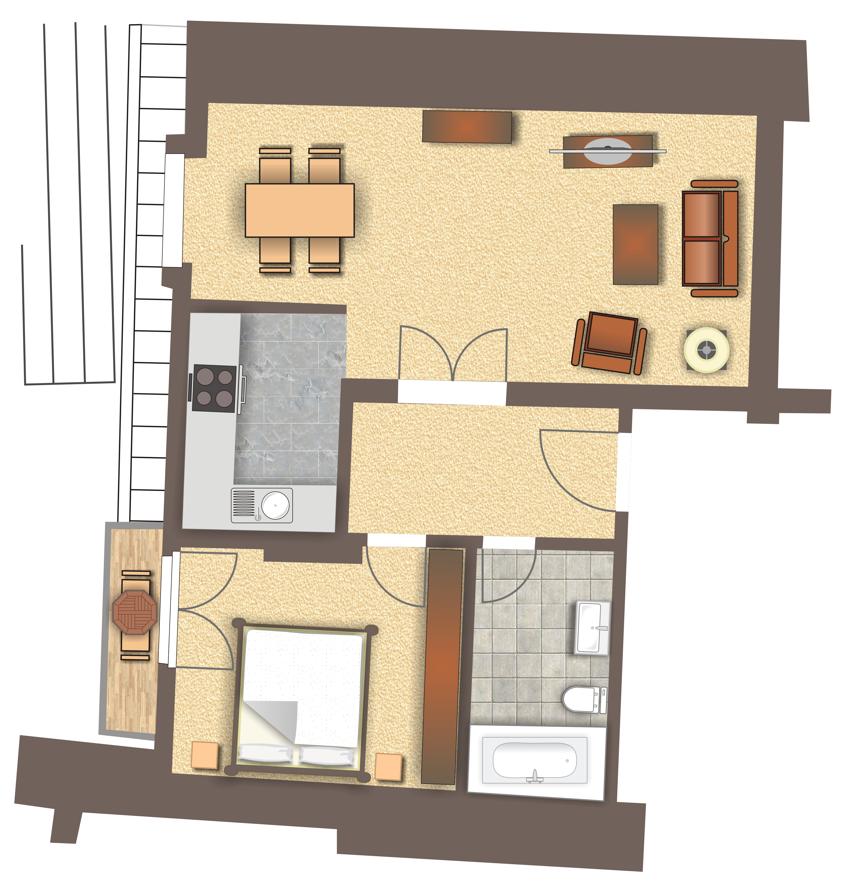 Grundriss Wohnung 1212