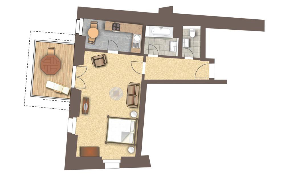 Grundriss Wohnung 333