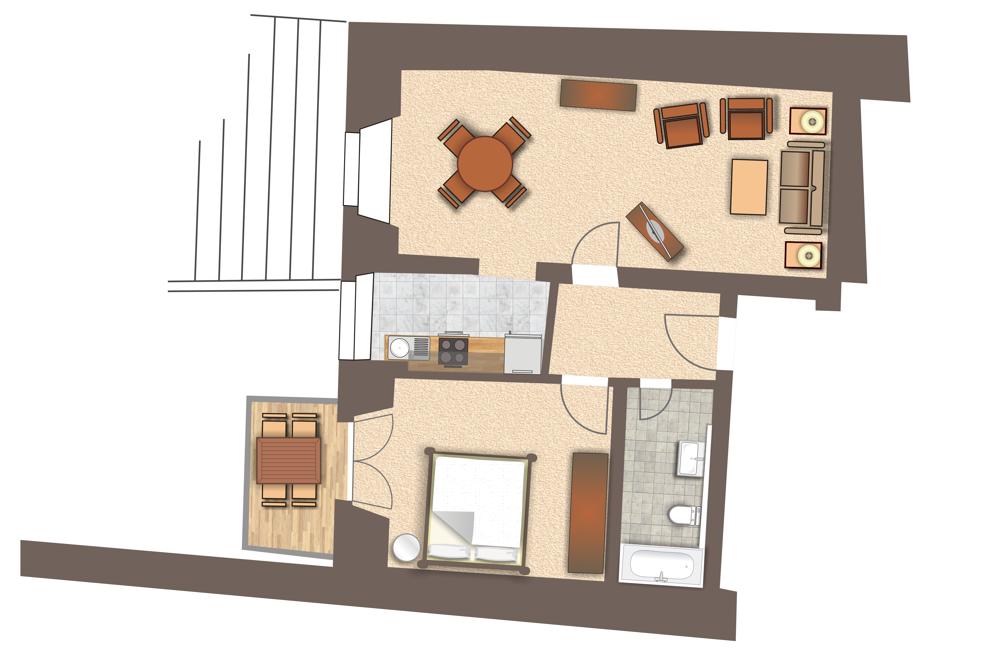 Grundriss Wohnung 777