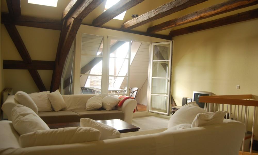 Galeriegeschoss mit Sitzgruppe Wohnung 1111