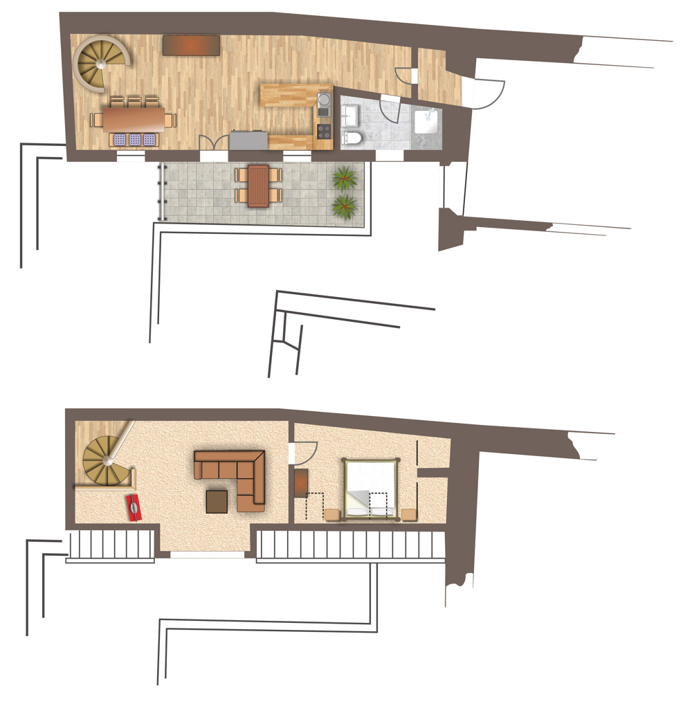 Grundriss Wohnung 1414